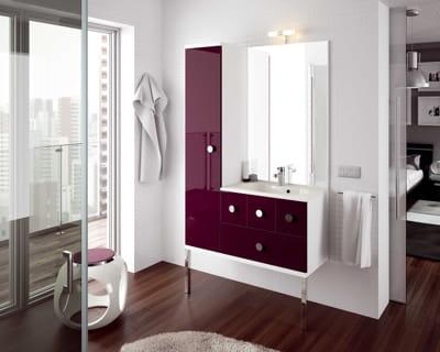 Salle de bains couleur aubergine brillant d 39 aquarine c 39 est d cid - Meuble de salle de bain couleur aubergine ...