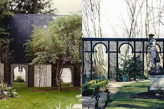 un d cor agr able et classique le treillage un alli d co au jardin journal des femmes. Black Bedroom Furniture Sets. Home Design Ideas