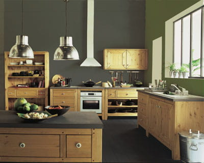 cuisine serena d 39 alin a des cuisines esprit bois journal des femmes. Black Bedroom Furniture Sets. Home Design Ideas