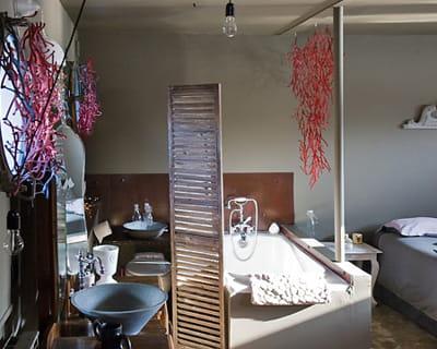 le coin salle de bains entre d co nature et r cup 39. Black Bedroom Furniture Sets. Home Design Ideas