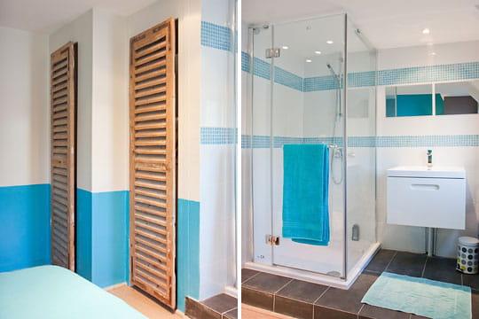 une salle d 39 eau dans la chambre une d co au fil de l 39 eau et des envies journal des femmes. Black Bedroom Furniture Sets. Home Design Ideas