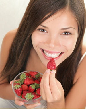 la fraise, pauvre en calories