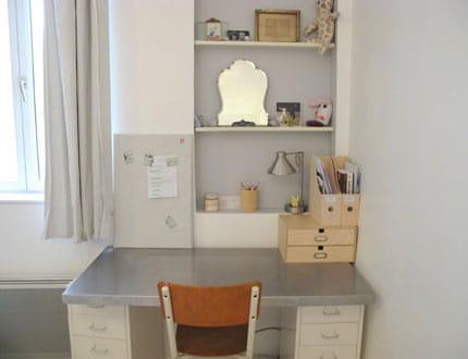 un espace studieux plein de charme visitez la maison de laurie journal des femmes. Black Bedroom Furniture Sets. Home Design Ideas