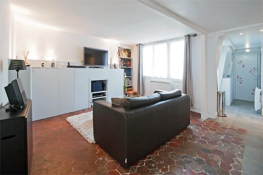 une grande pi ce vivre un 55 m spacieux et moderne dans un immeuble xviiie journal des femmes. Black Bedroom Furniture Sets. Home Design Ideas