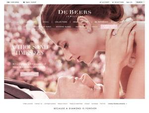 Un site web pour la maison de joaillerie de beers for Sites web pour concevoir des maisons gratuitement