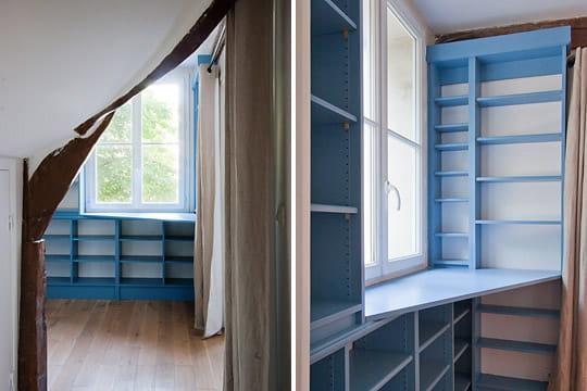 Un couloir transform en bureau esprit loft dans un for Couloir bureau