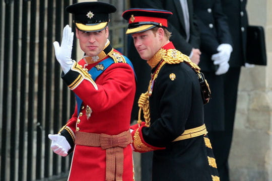 Le prince William et son témoin Harry