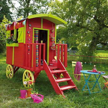 Une roulotte pour une vie de boh me - Roulotte pour jardin ...