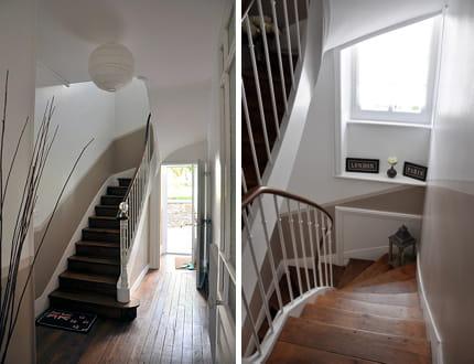 escalier tout en sobri t visitez la maison de charlotte. Black Bedroom Furniture Sets. Home Design Ideas