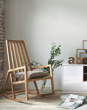 Vintage wood chairs with split weave seats