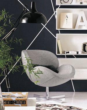 fauteuil schelly en tissu gris de bo concept. Black Bedroom Furniture Sets. Home Design Ideas