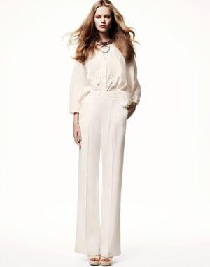 pantalon taille haute blanc mode et fashion. Black Bedroom Furniture Sets. Home Design Ideas
