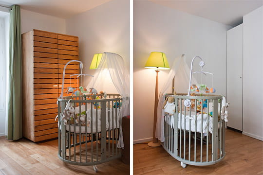 Tons naturels dans la chambre de b b quand deux appartements ne font plus qu 39 un journal - Quand preparer la chambre de bebe ...