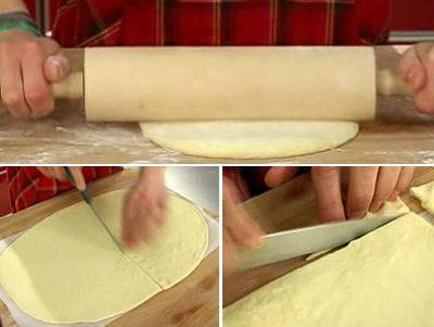 etaler puis découper la pâte