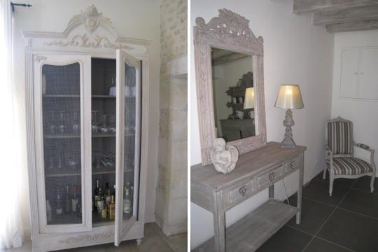 des meubles au charme d 39 antan esprit de charme dans un ancien chai journal des femmes. Black Bedroom Furniture Sets. Home Design Ideas