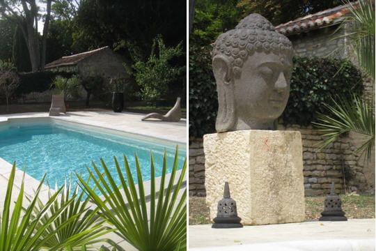 Exotisme autour de la piscine esprit de charme dans un ancien chai journal des femmes - Autour de la piscine deco toulouse ...