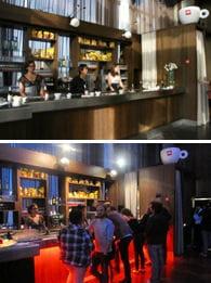 la salle de cocktail avant / après