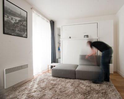 ranger le lit dans le mur objectif gagner des m tres carr s journal des femmes. Black Bedroom Furniture Sets. Home Design Ideas