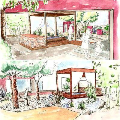 Un projet qui prend forme am nagement d 39 un jardin zen journal des femmes - Deco jardin zen exterieur grenoble ...
