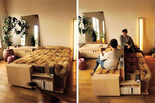 un canap lit original un mini loft modulable et ludique journal des femmes. Black Bedroom Furniture Sets. Home Design Ideas
