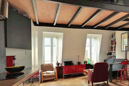 Une mezzanine dans le style industriel un appartement tout en longueur bien - Appartement style industriel ...