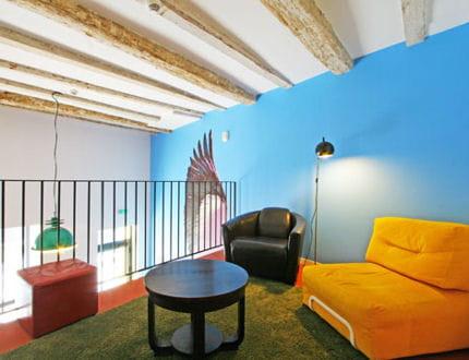 bleu et jaune. Black Bedroom Furniture Sets. Home Design Ideas