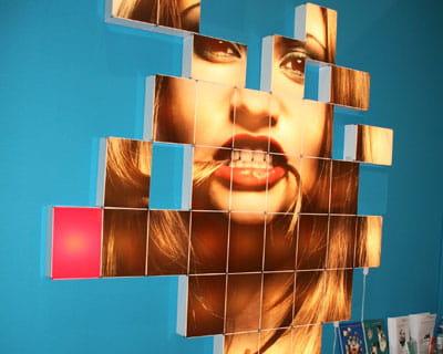 cubes lumineux wall color light de remake design
