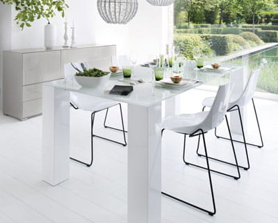 table salle a manger en verre fly meuble de salon. Black Bedroom Furniture Sets. Home Design Ideas