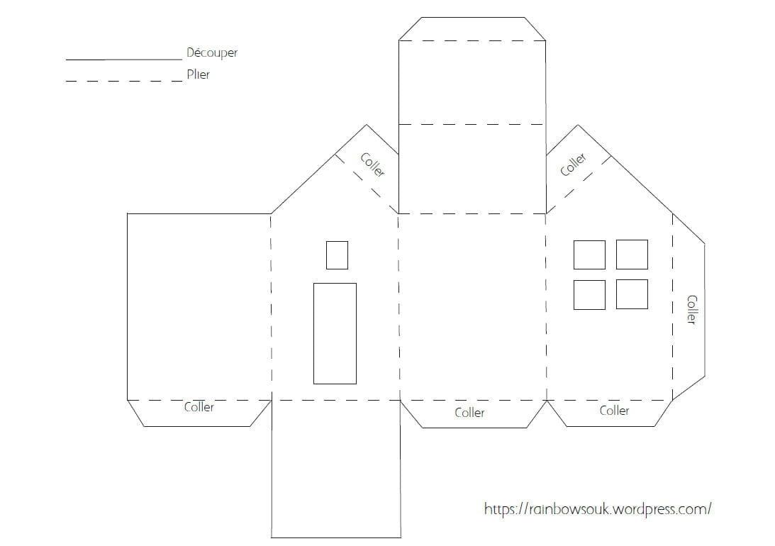 patron maison carton ventana blog. Black Bedroom Furniture Sets. Home Design Ideas